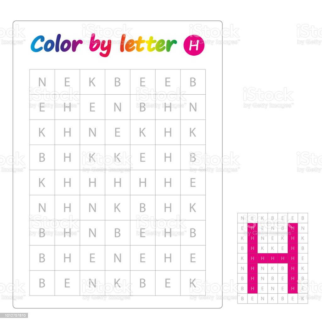 Color By Letters Learning Alphabet Letters Worksheet For Preschool