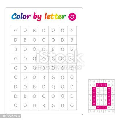 Ilustración de Color De Letras Alfabeto De Aprendizaje Cartas Hoja ...