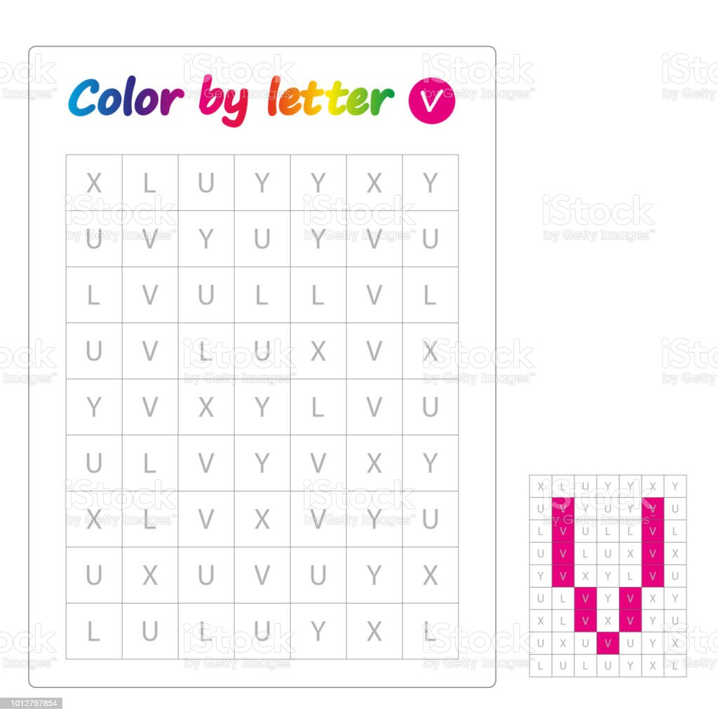 - Color By Letters Learning Alphabet Letters Worksheet For Preschool
