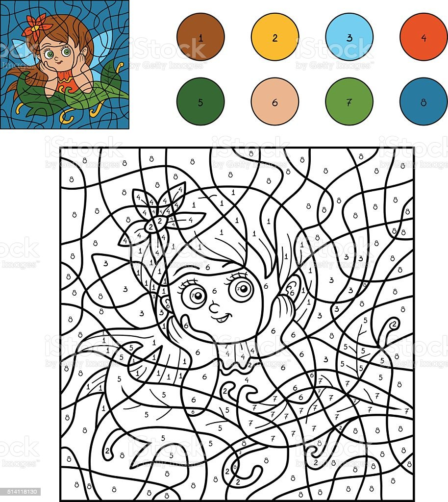 Color By Number For Children Stock Vector Art & More Images of ...