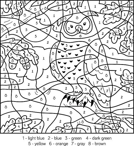 Royalty Free Coloring By Number Clip Art, Vector Images