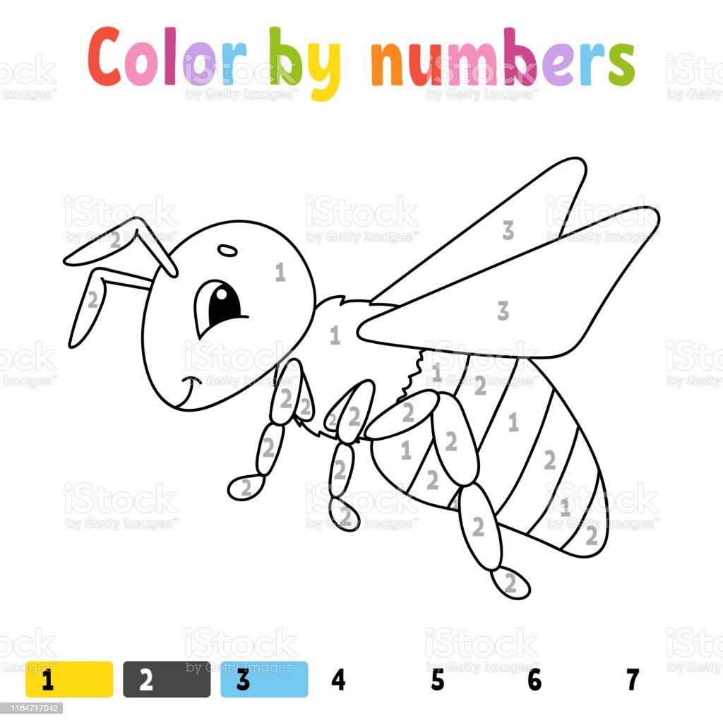 Couleur Par Nombres Livre A Colorier Pour Les Enfants Caractere