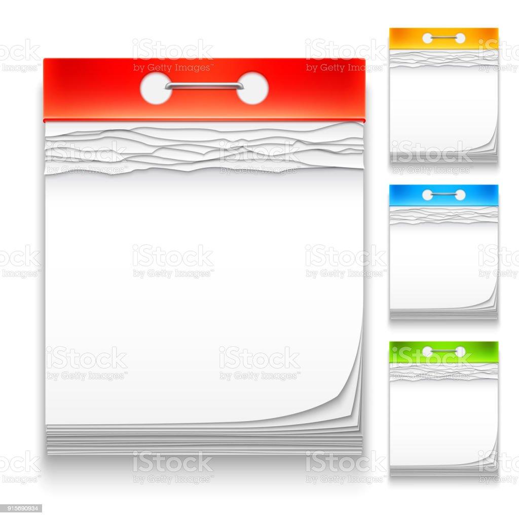 Farbe Kalender Icons – Vektorgrafik