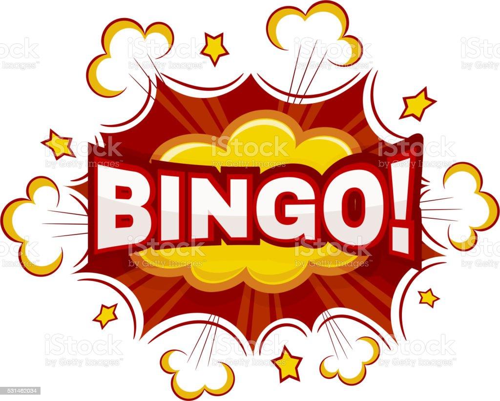 color cartoon explosion bingocomic speech bubble bingo stock