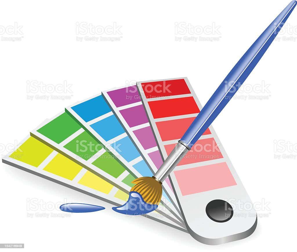 Color Chart royalty-free stock vector art