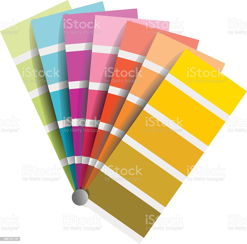 color chart vector on white background vector art illustration