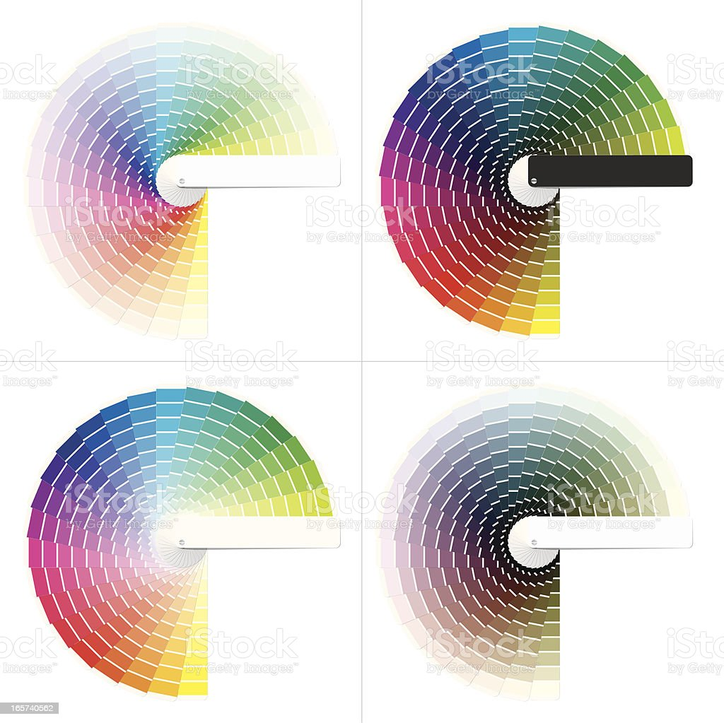 Color Charts vector art illustration