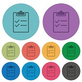 Color checklist flat icons