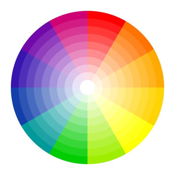 illustrazioni stock, clip art, cartoni animati e icone di tendenza di color circle 12 colors - huế
