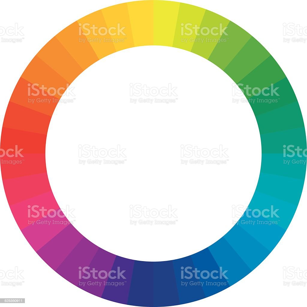 Color circle / color wheel vector art illustration