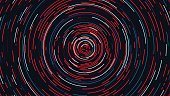Color circle cyber tunnel, Futuristic abstract background, vector illustration