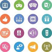 Color Circle Icons Set | Entertainment