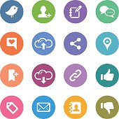 An illustration of social media icons set for your web page, presentation, & design products.