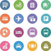 Color Circle Icons Set | Travel