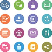 Color Circle Icons Set   Web & Internet