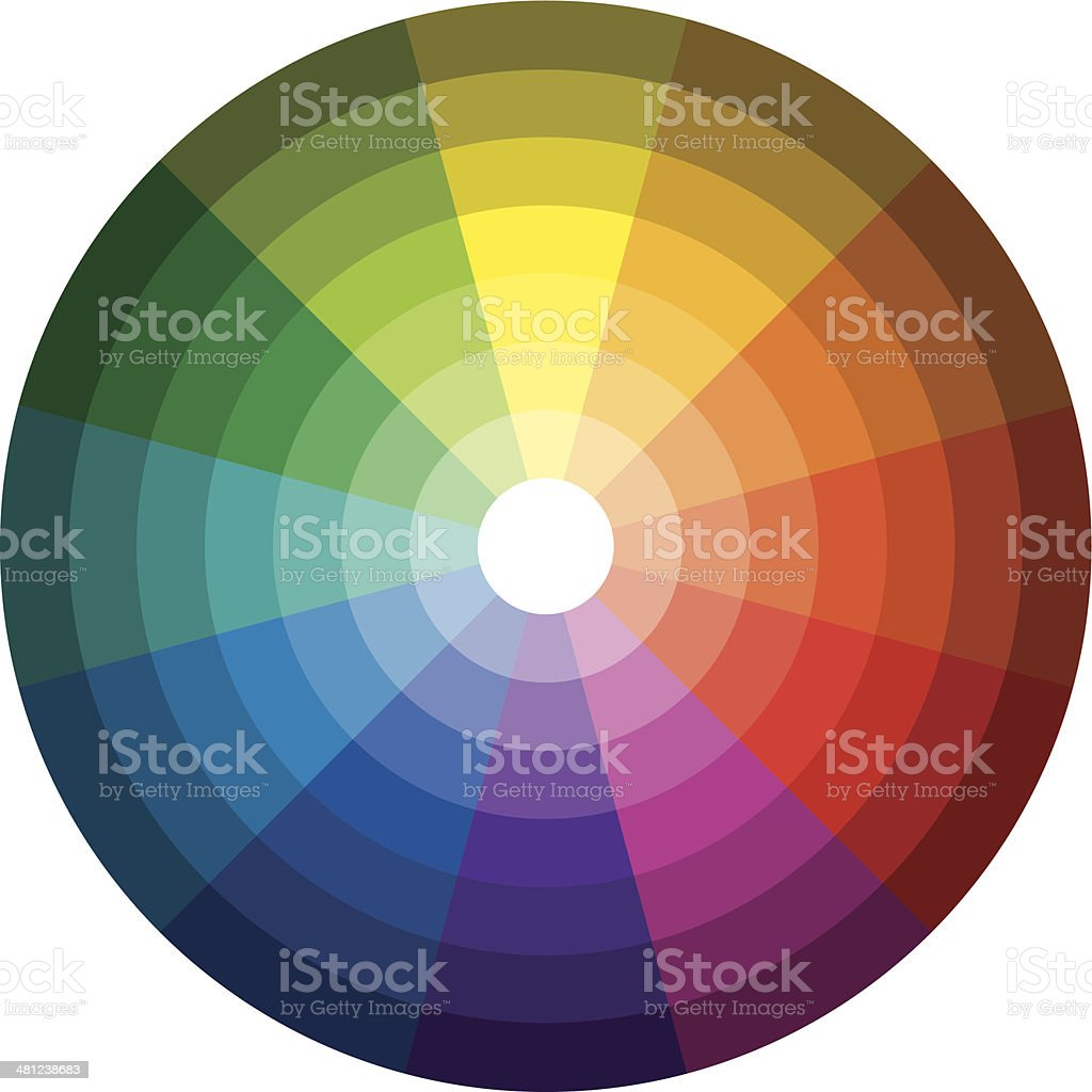 Color Circle Light Dark royalty-free stock vector art