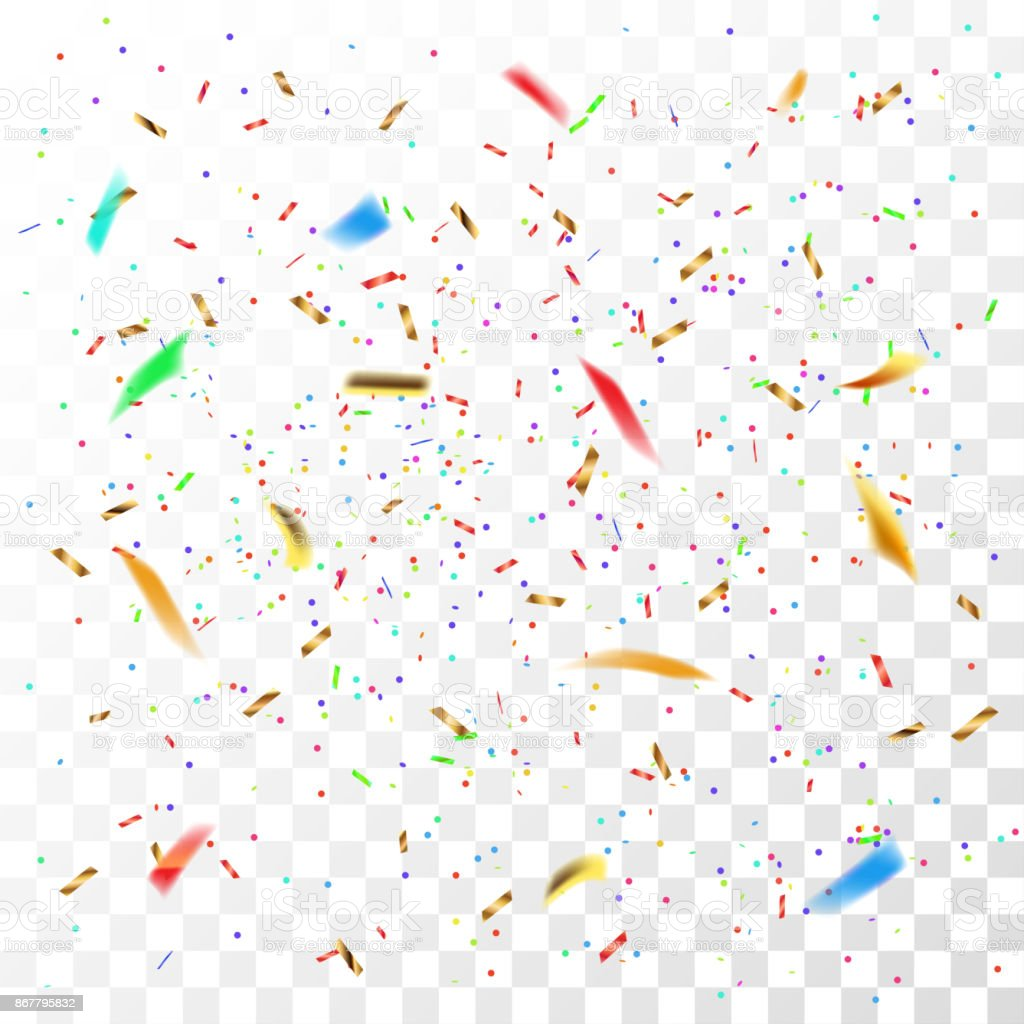 Color confetti vector art illustration