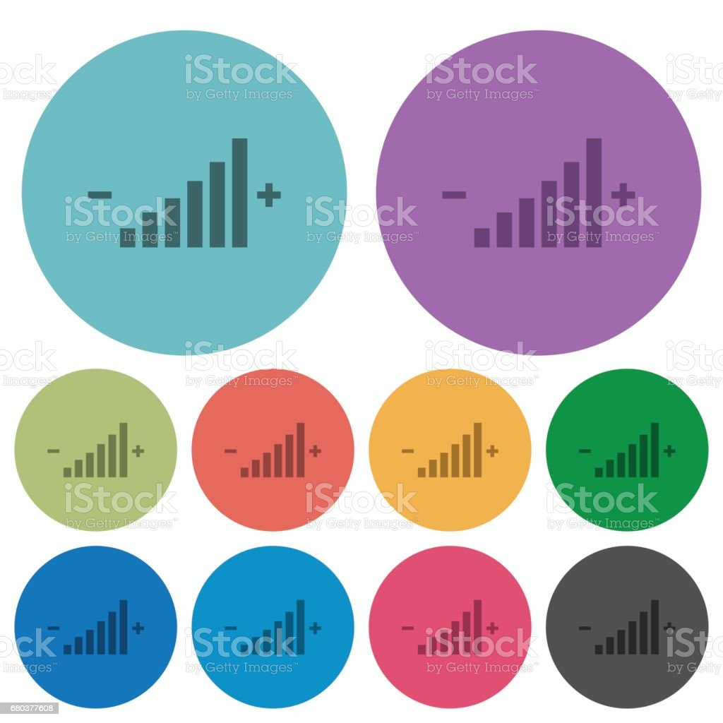 Color Control element flat icons royalty-free color control element flat icons stock vector art & more images of adjusting