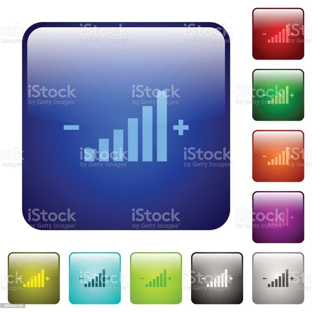 Color control element square buttons royalty-free color control element square buttons stock vector art & more images of adjusting
