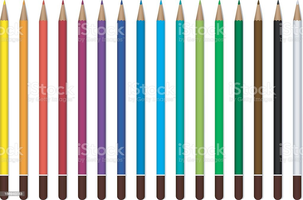 Color crayons royalty-free stock vector art