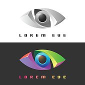 Color creative eye icon