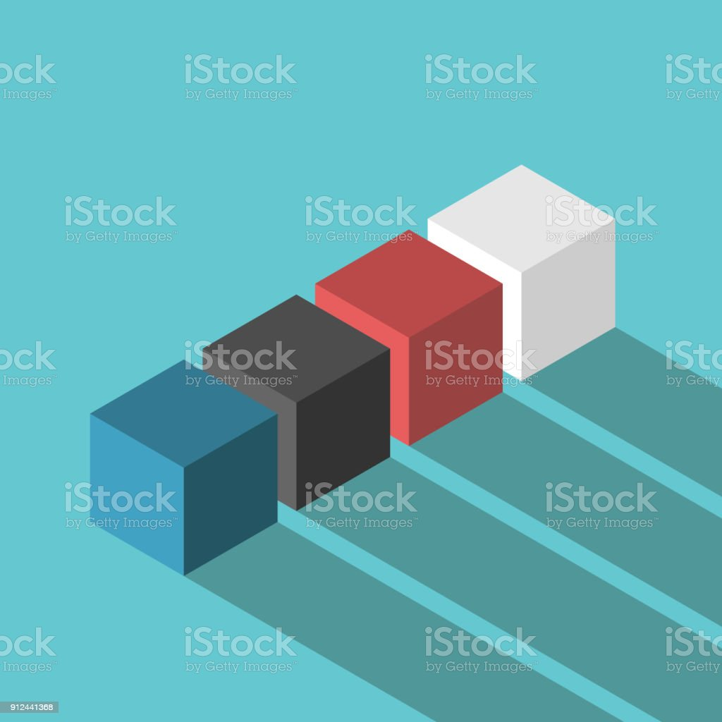 Farbwürfel, verschiedene Konzept – Vektorgrafik