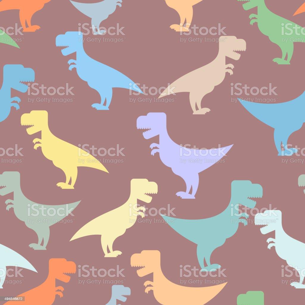 Color Monada Dinosaurios Fondo Sin Costuras Patrón De Repetición De ...