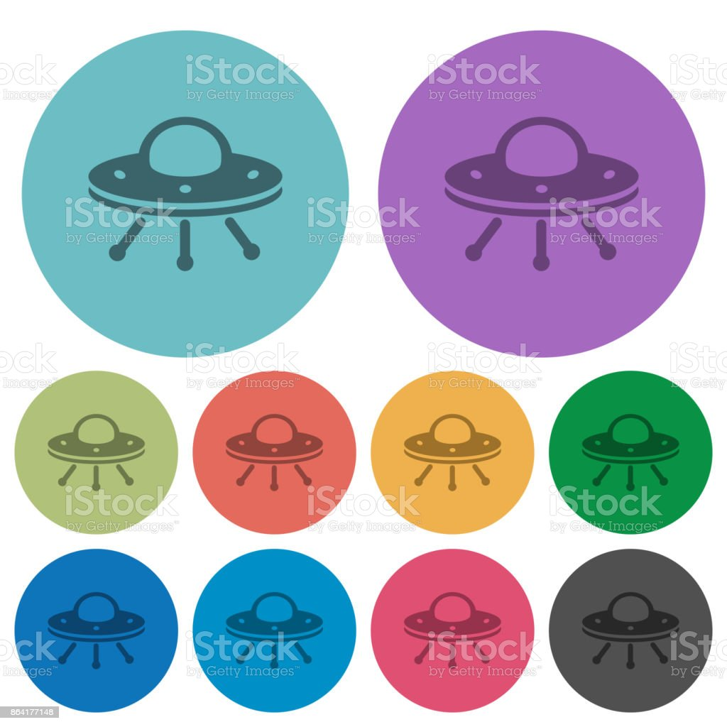 UFO color darker flat icons royalty-free ufo color darker flat icons stock vector art & more images of alien