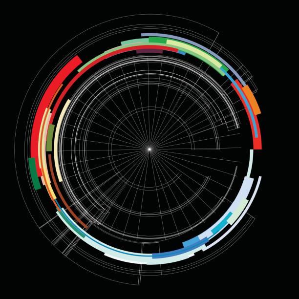 color data line pattern background - radar stock illustrations