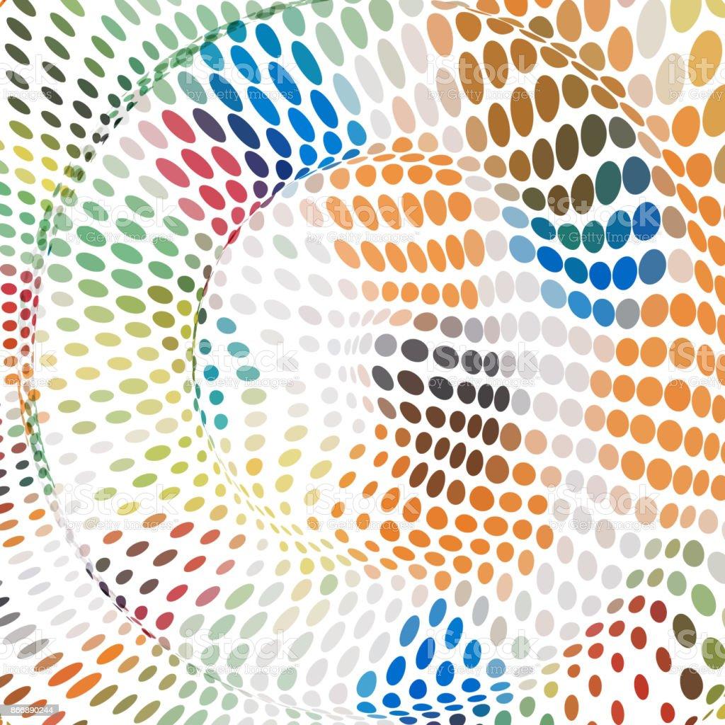 Color Dots Pattern Background vector art illustration