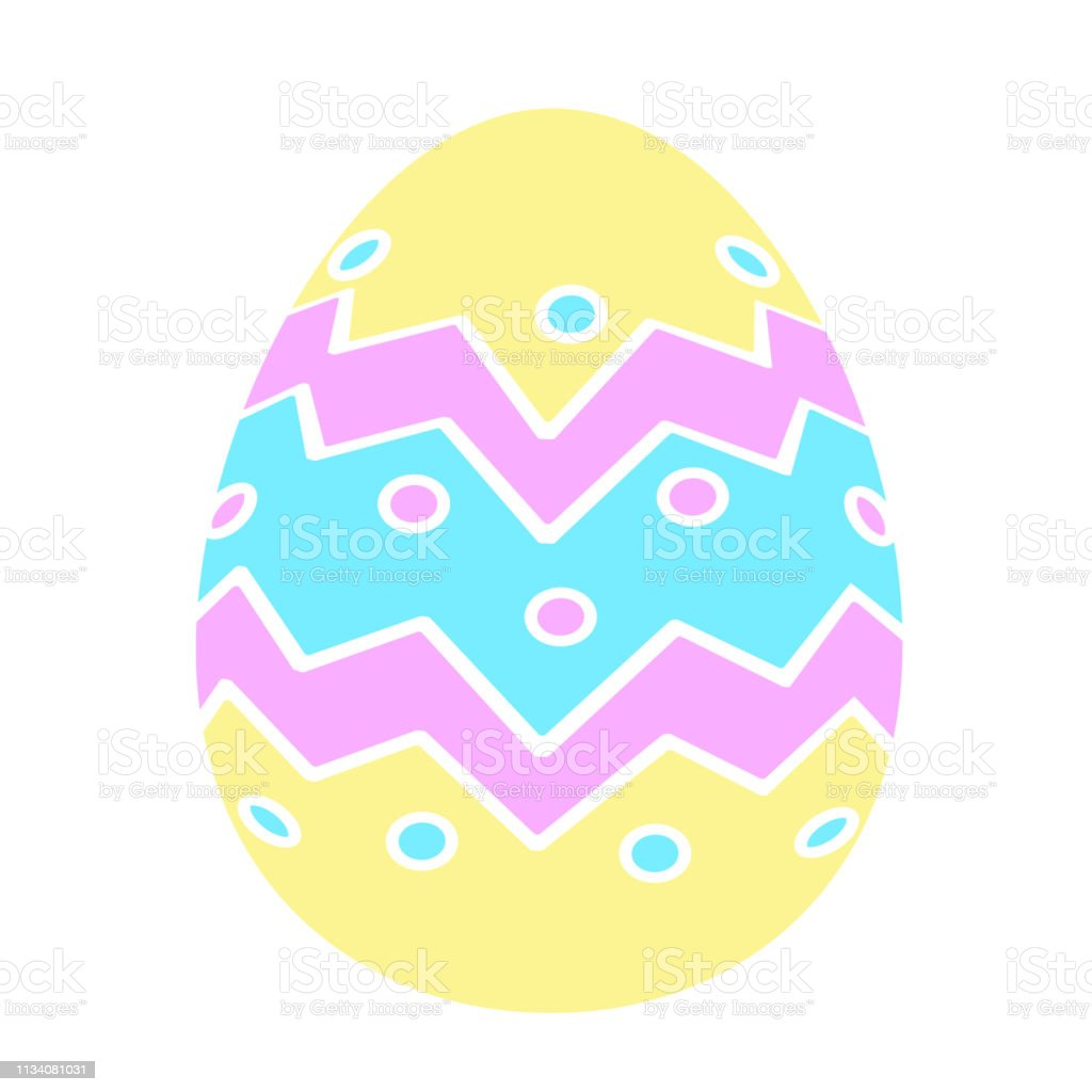 Color Easter Egg Vector Icons Flat Style Stock Illustration Download Image Now Istock