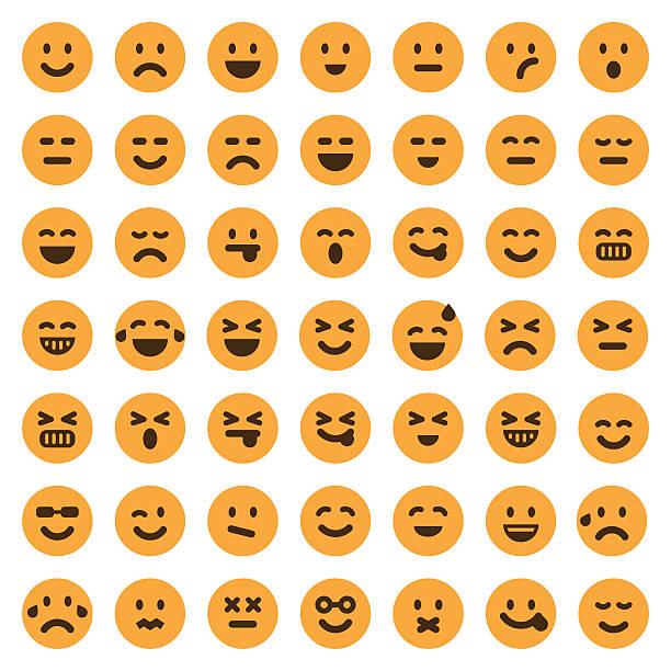 Conjunto de iconos de Color emoji 1 - ilustración de arte vectorial
