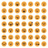 Color emoji icons set 1