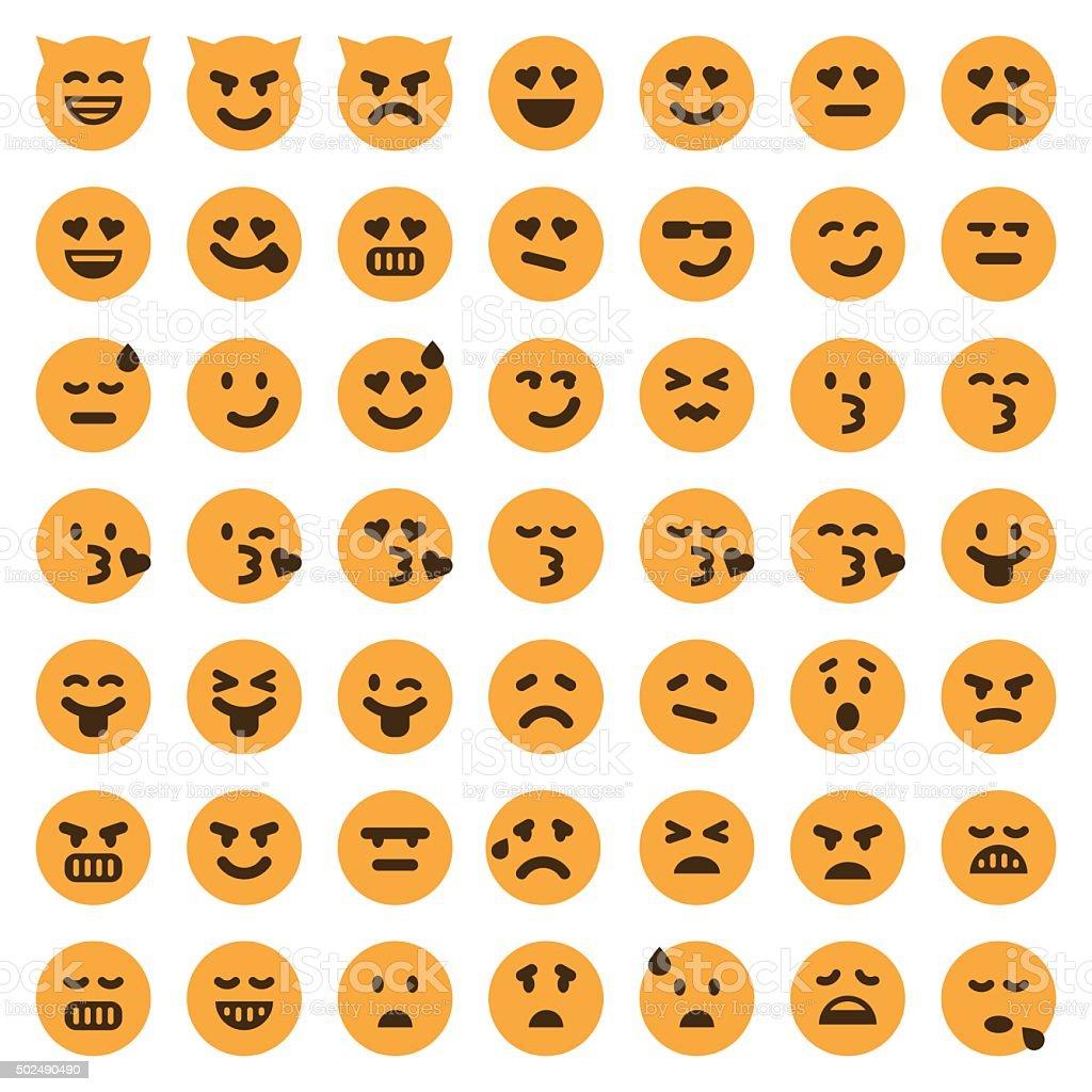 Conjunto de iconos de Color emoji 2 - ilustración de arte vectorial