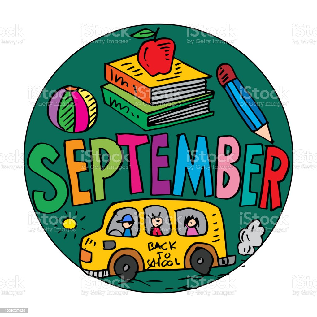 Color Example September Coloring Pages For Kids Stock Illustration Download Image Now Istock