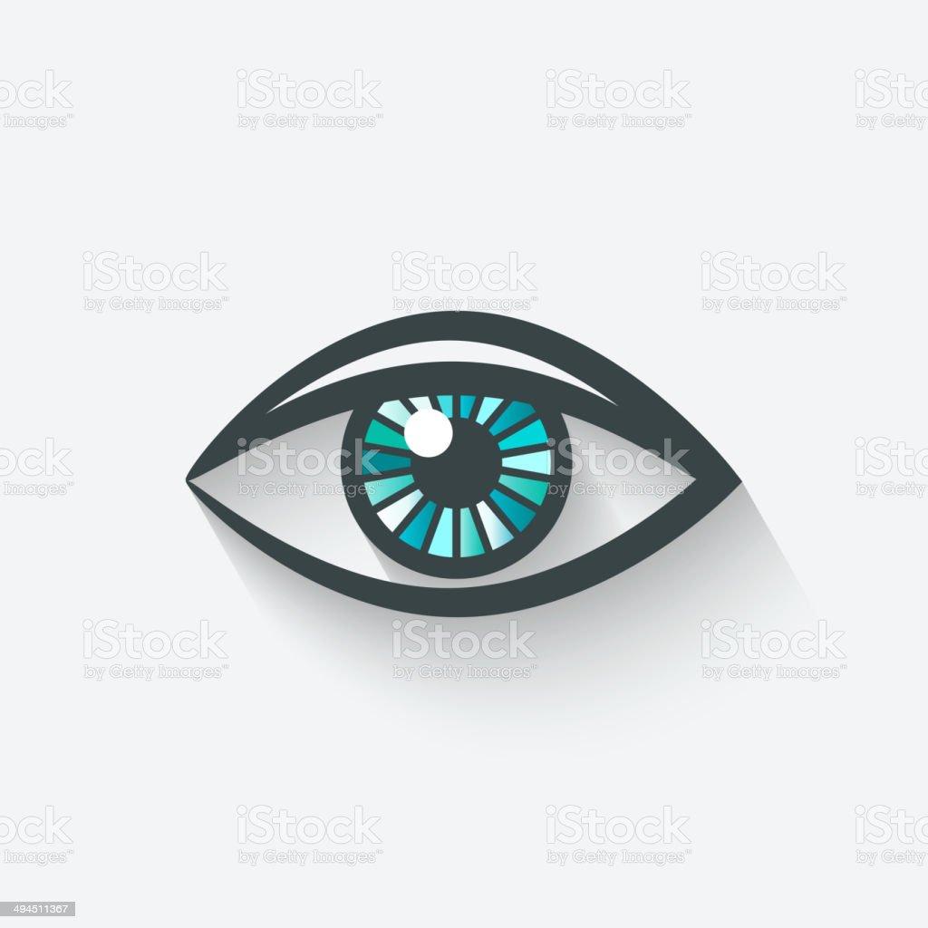color eye icon vector art illustration