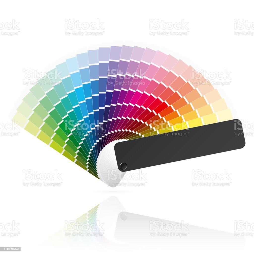 Color fan royalty-free stock vector art