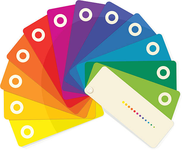 Color Fan vector art illustration