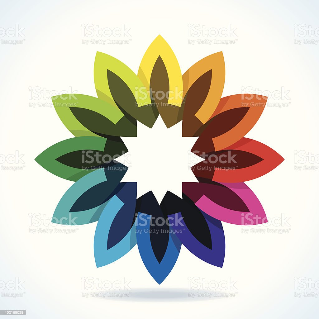 Color flower wheel royalty-free stock vector art