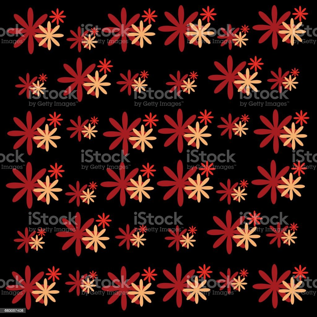 Color flowers isolated on black background. Vector illustration. color flowers isolated on black background vector illustration - arte vetorial de stock e mais imagens de abstrato royalty-free