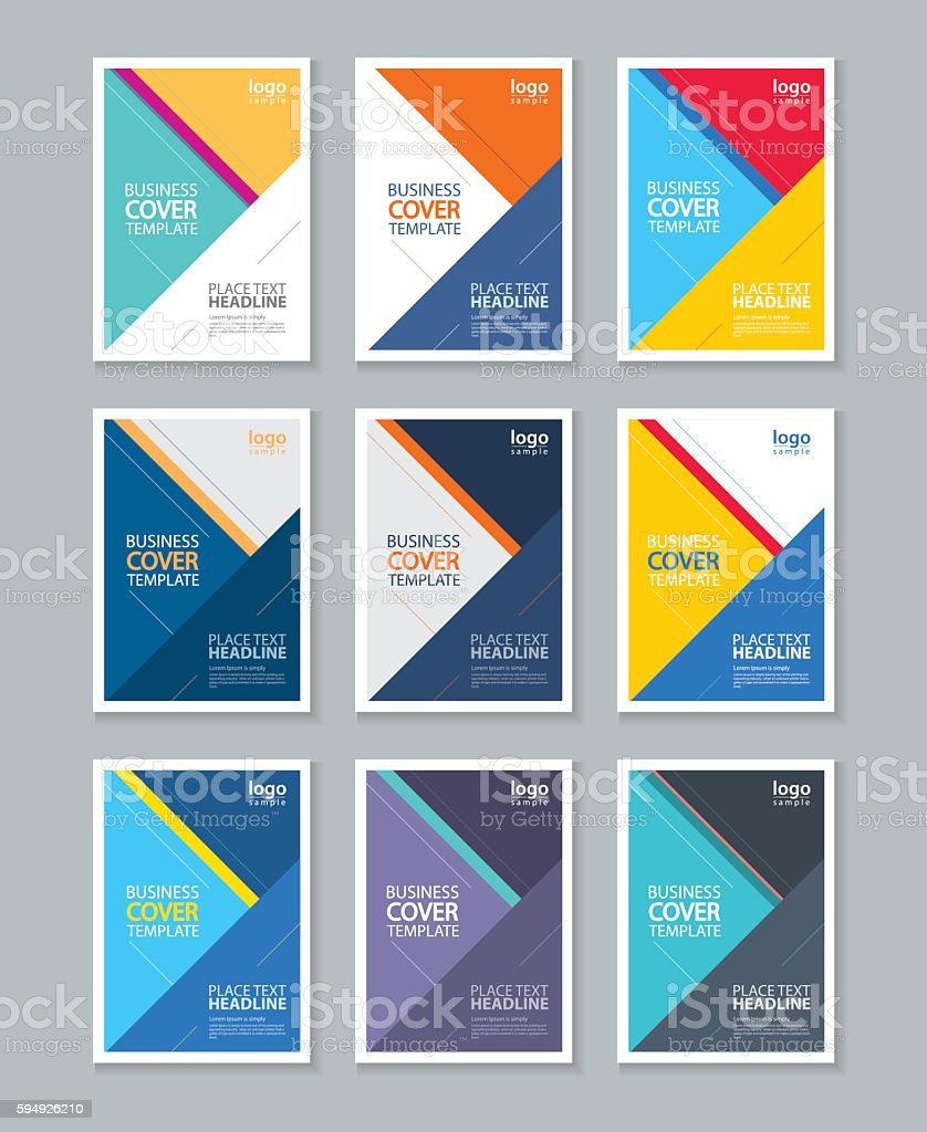 Color Full Cover Page Brochure Flyer Report Layout Design Template ...