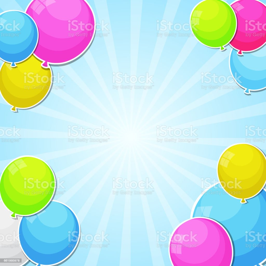 Color Glossy Balloons Background Vector Illustration royalty-free color glossy balloons background vector illustration stock vector art & more images of abstract