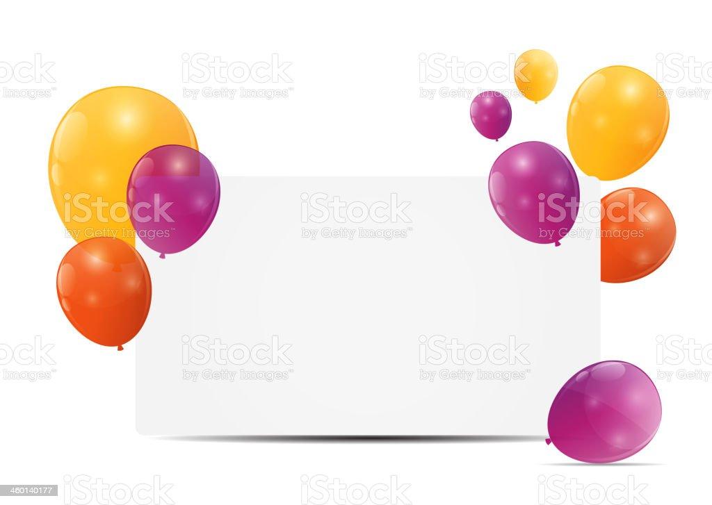 Farbe Glänzend Ballons Geburtstagskarte Hintergrund Vektorillustrat ...