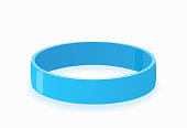 istock Color glossy silicone wristband. Realistic vector illustration 1264101468