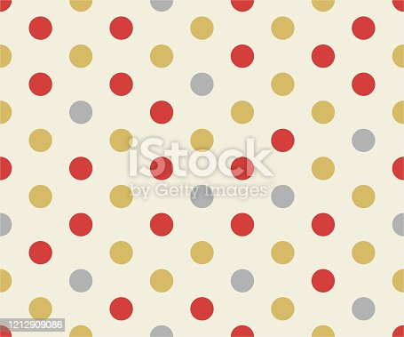 Color gold polka dot pattern, Gold Design Templates, holiday background vector illustration.