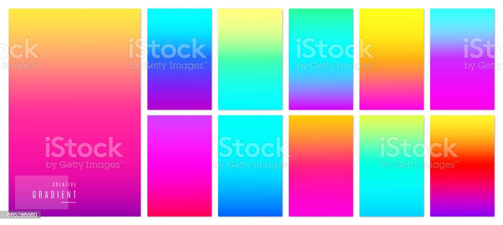 Color Gradient Background Creative Soft Colorful Texture Design For Mobile App Royalty Free