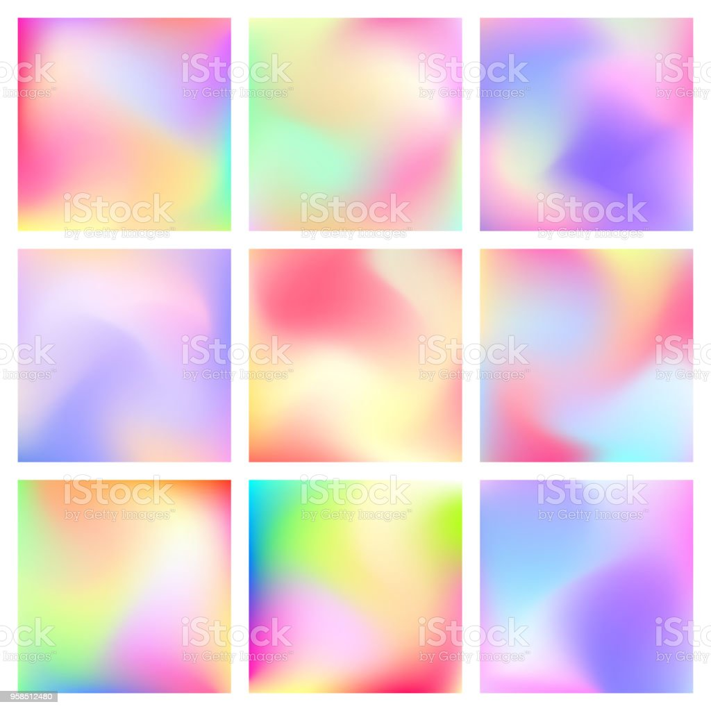Color Gradient Background Set vector art illustration