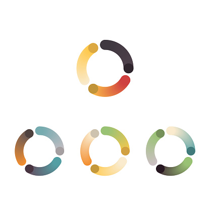 color gradient blend style curve stripe icon collection