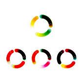color gradient vivid circle icon collection