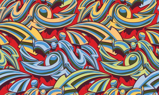illustrations, cliparts, dessins animés et icônes de colorer graffiti flèches arrière-plan transparent - hip hop